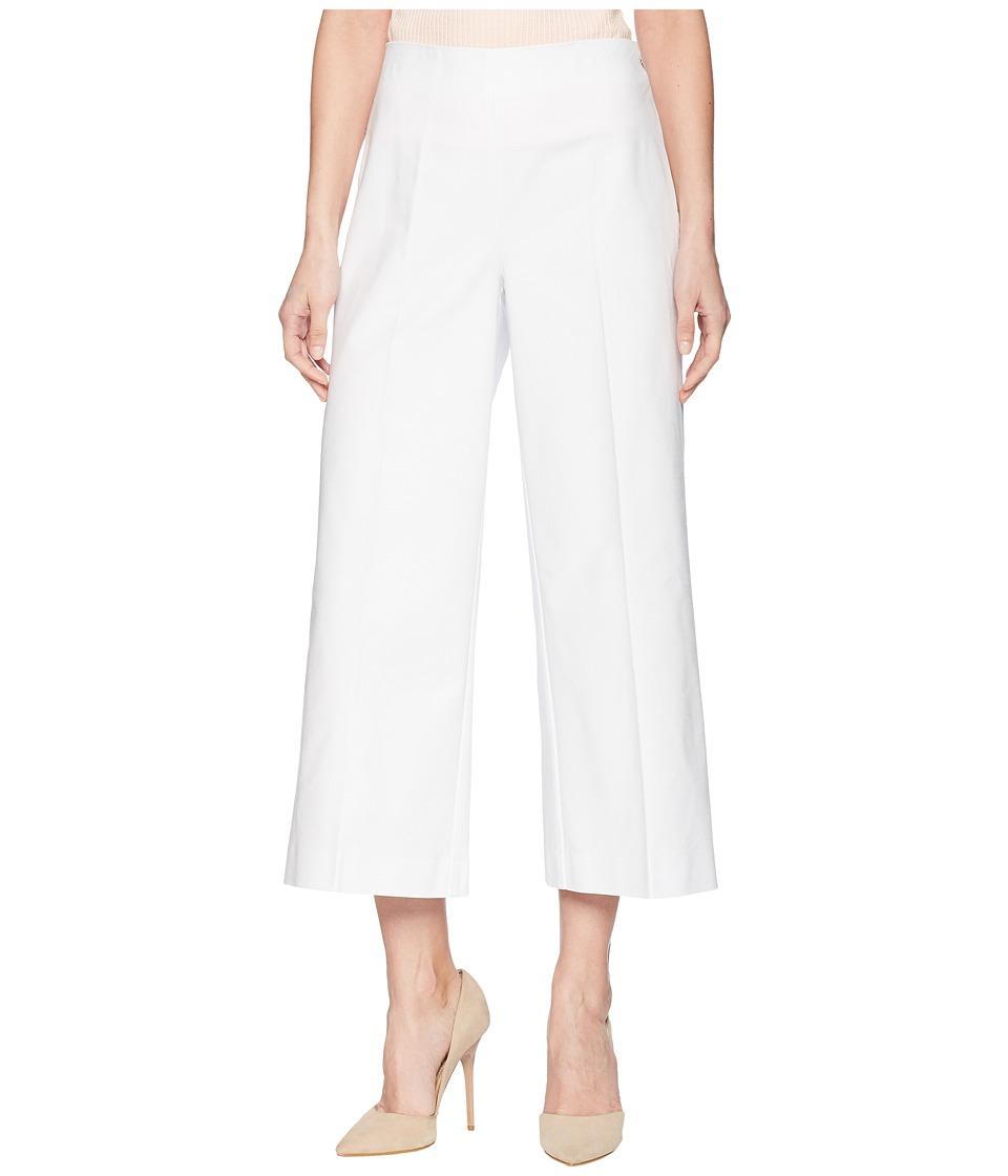 LAUREN Ralph Lauren - Stretch Wide Leg Pants (White) Womens Casual Pants