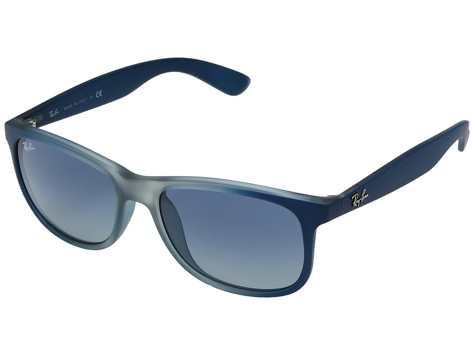 Ray-Ban RB4202 Andy 55mm (Blue-Rubber Light Grey Translucent/Grey Gradient Blue) Fashion Sunglasses
