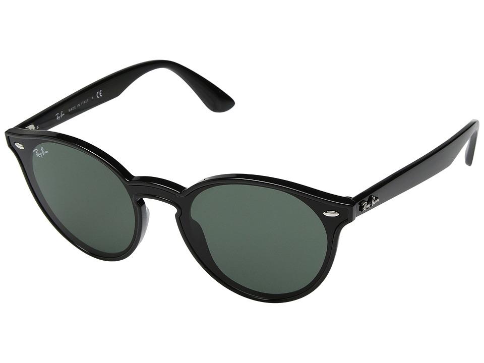 Ray-Ban 0RB4380N 37mm (Black/Green) Fashion Sunglasses