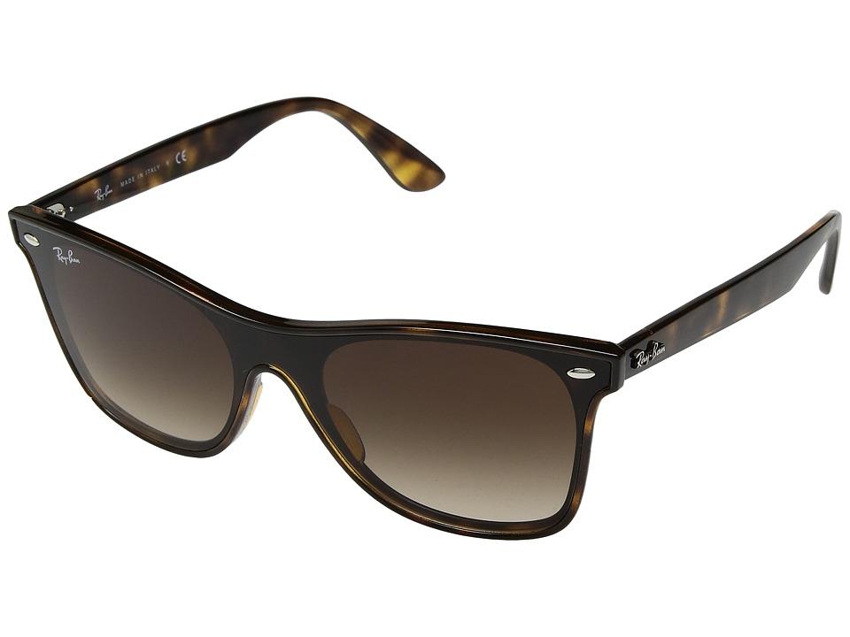 Ray-Ban 0RB4440N Wayfarer 41mm (Light Havana/Brown Gradient) Fashion Sunglasses