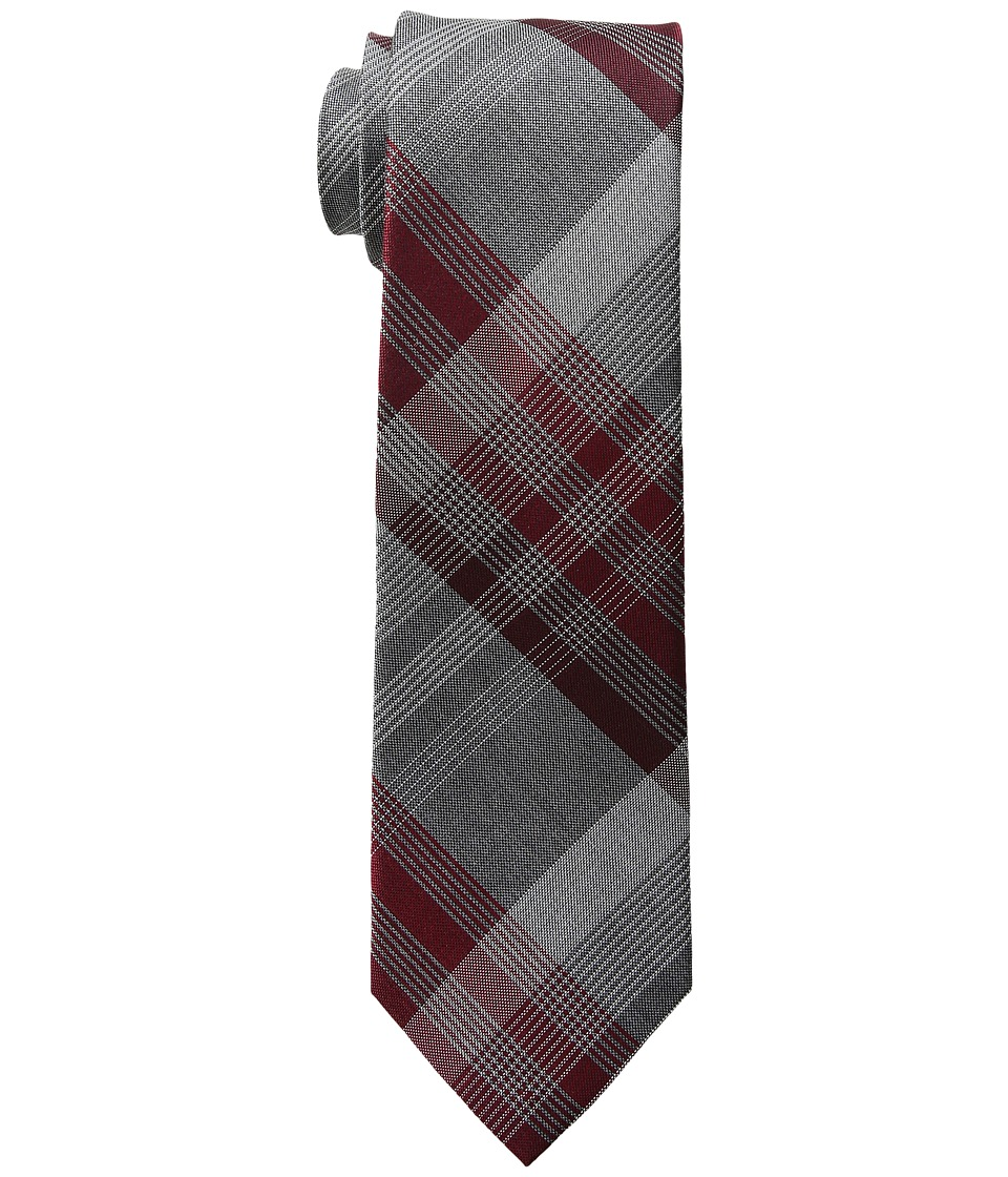 Kenneth Cole Reaction - 3 Color Plaid (Burgundy) Ties