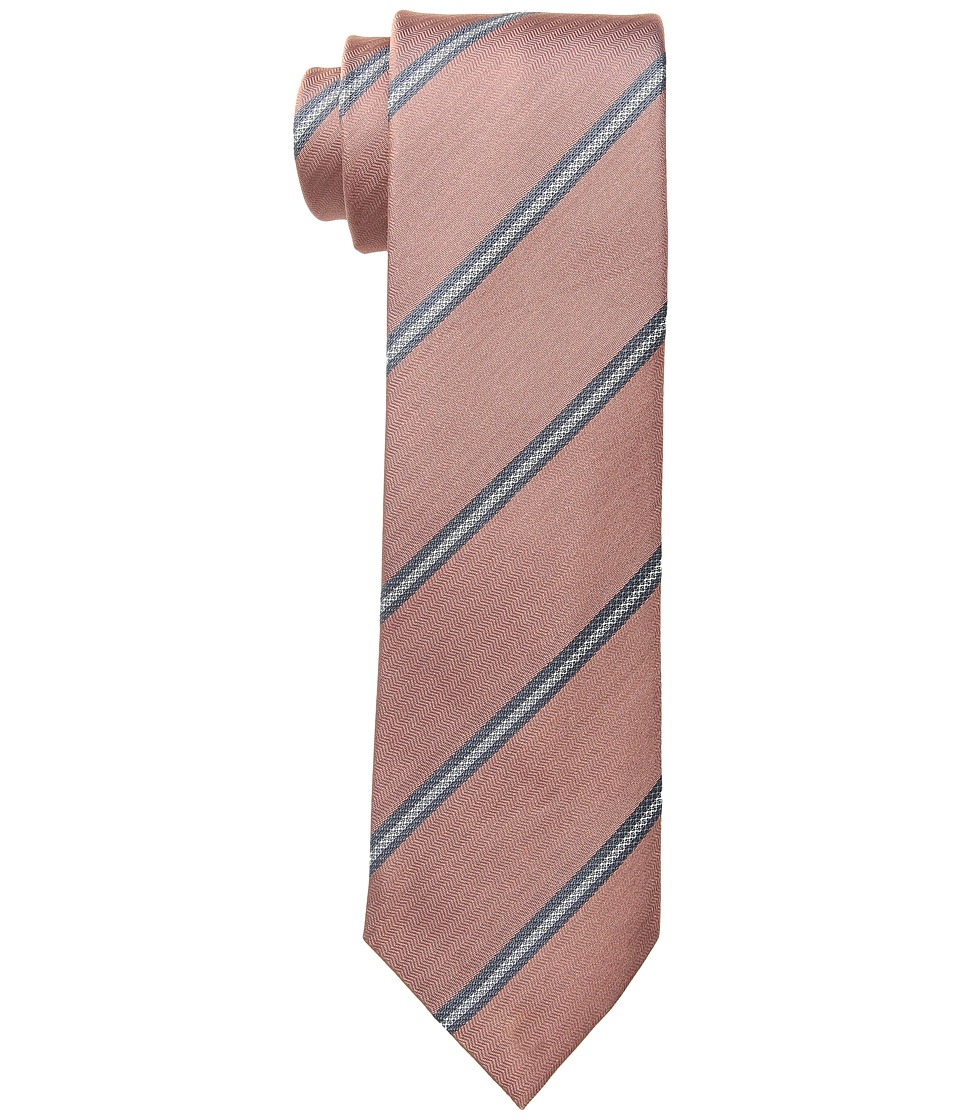 Kenneth Cole Reaction - Perfect Stripe (Melon) Ties
