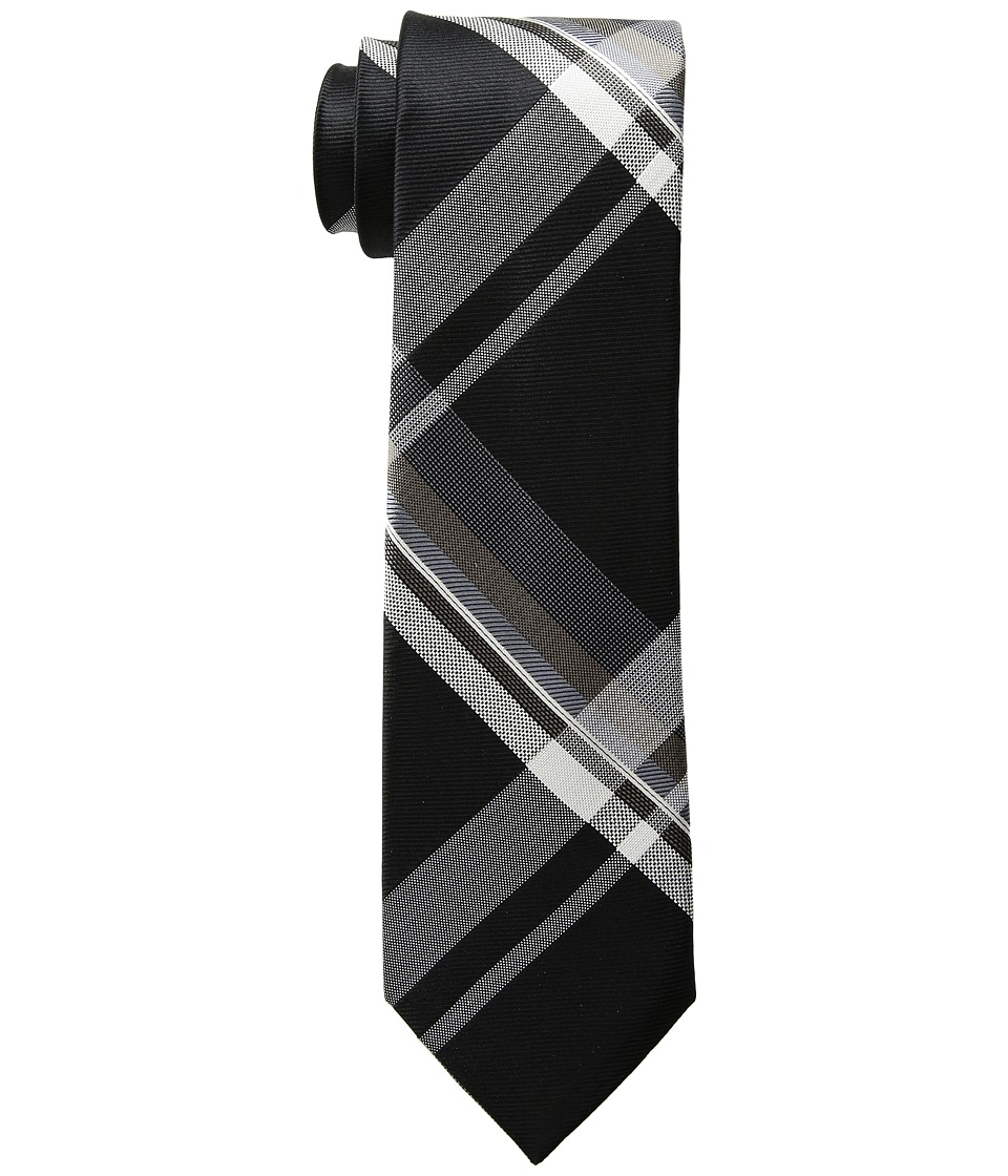 Kenneth Cole Reaction - Onyx Plaid (Black) Ties