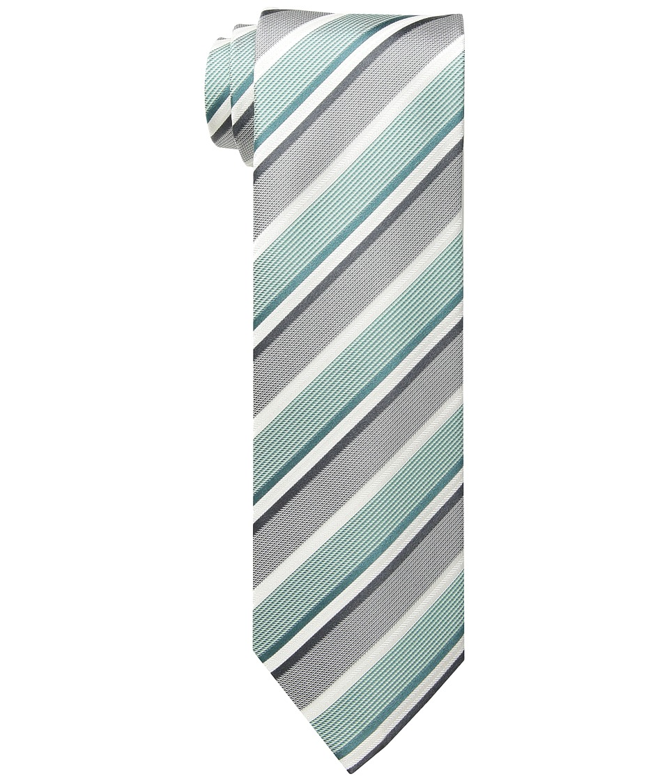 Kenneth Cole Reaction - Texture Bar Stripe (Mint) Ties