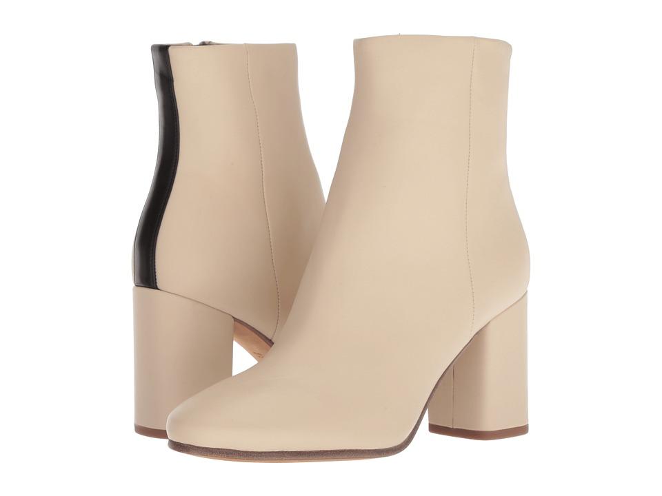 Diane von Furstenberg Robyn (Linen/Black Miro Calf Leather) Women's Shoes