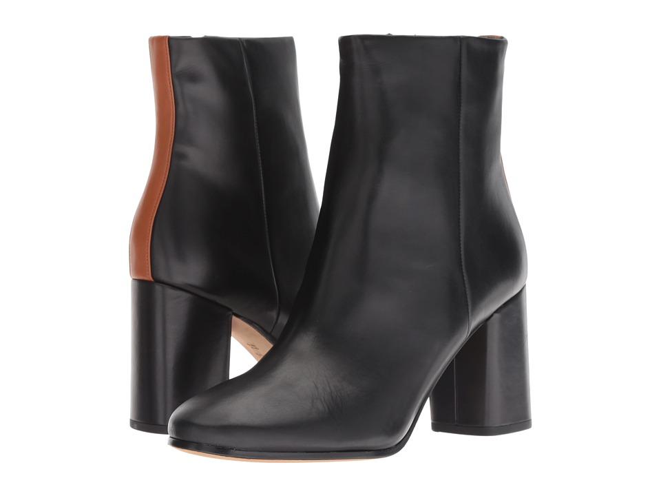Diane von Furstenberg Robyn (Black/Tan Matte Barcelona) Women's Shoes