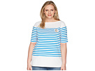 LAUREN Ralph Lauren LAUREN Ralph Lauren Plus Size LRL Striped Cotton T-Shirt