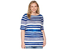 LAUREN Ralph Lauren LAUREN Ralph Lauren Plus Size Striped Boat Neck Top