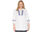 LAUREN Ralph Lauren LAUREN Ralph Lauren Plus Size Embroidered Cotton Top