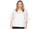 LAUREN Ralph Lauren LAUREN Ralph Lauren Plus Size Striped Bell-Sleeve Top