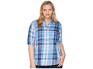 LAUREN Ralph Lauren LAUREN Ralph Lauren Plus Size Plaid Cotton Twill Shirt