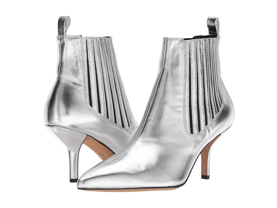 Diane von Furstenberg Mollo-5 (Silver Metallic Leather) Women's Shoes