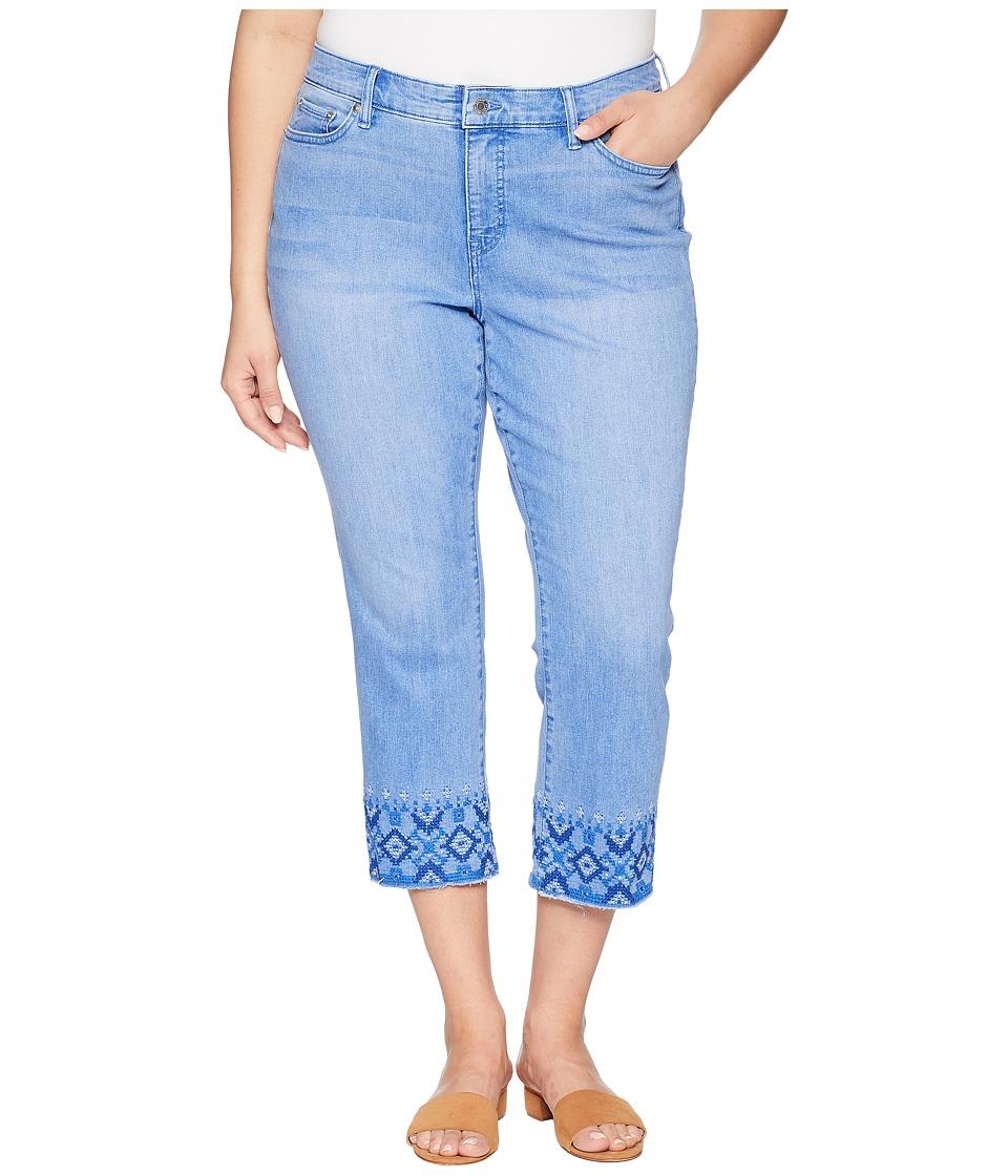 LAUREN Ralph Lauren - Plus Size Premier Straight Crop Jeans (Indigo Mosaic Wash) Womens Jeans