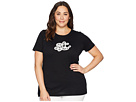 LAUREN Ralph Lauren LAUREN Ralph Lauren Plus Size Monogram Striped T-Shirt