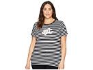 LAUREN Ralph Lauren Plus Size Logo Striped Jersey T-Shirt