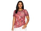 LAUREN Ralph Lauren Plus Size Linen-Blend-Jersey T-Shirt