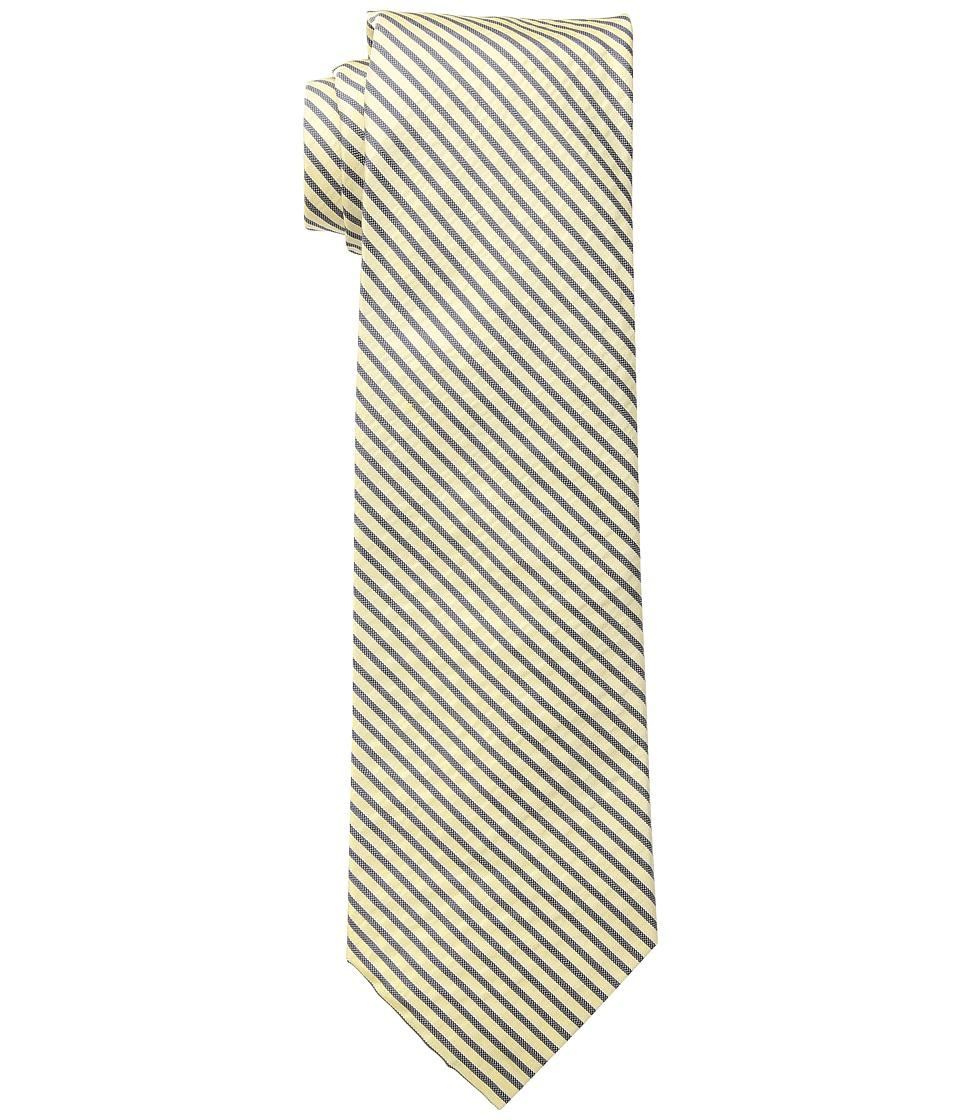 LAUREN Ralph Lauren - Shirting Stripe Tie (Yellow/Navy) Ties