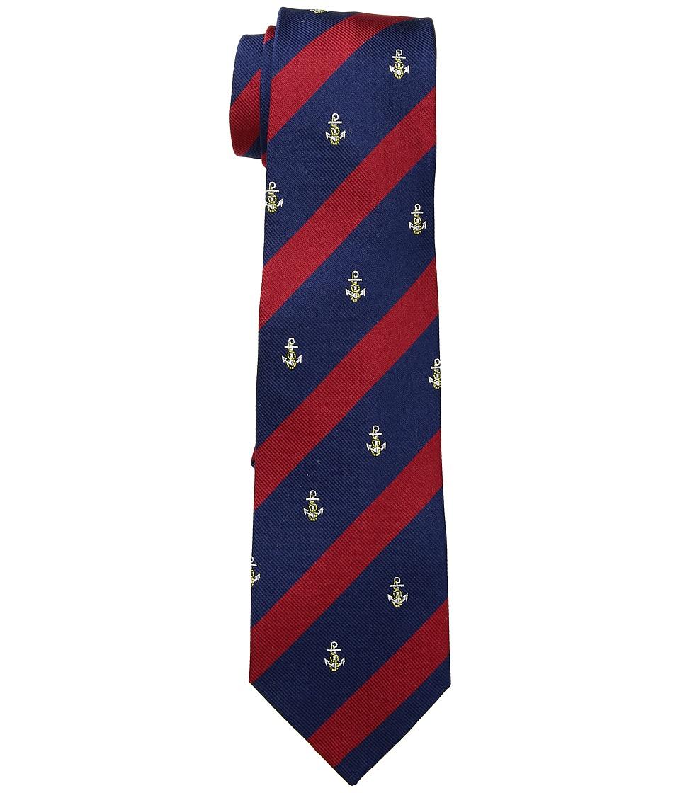 LAUREN Ralph Lauren - Anchor Stripe Tie (Navy/Red) Ties