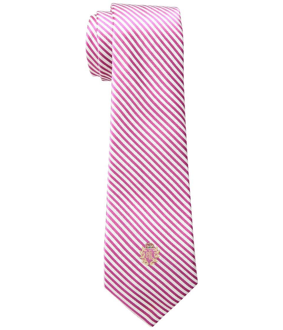 LAUREN Ralph Lauren - Silk Seersucker Tie (Pink/White) Ties