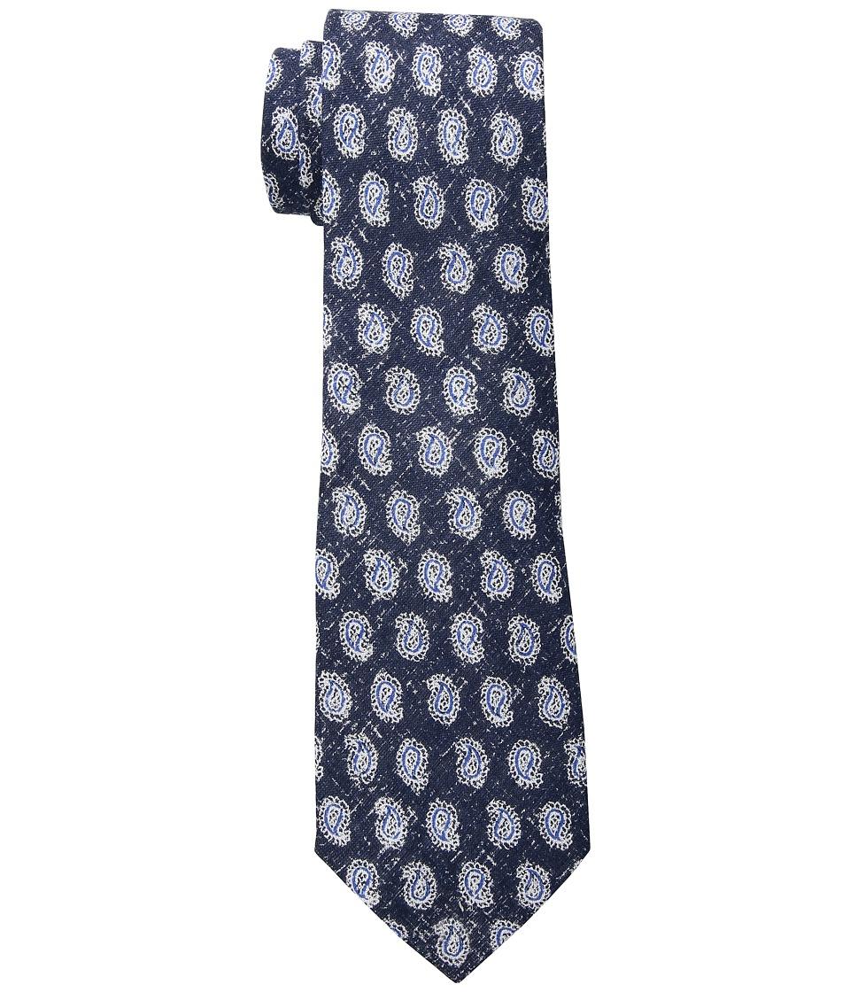 LAUREN Ralph Lauren - Printed Pine Tie (Navy/Blue) Ties