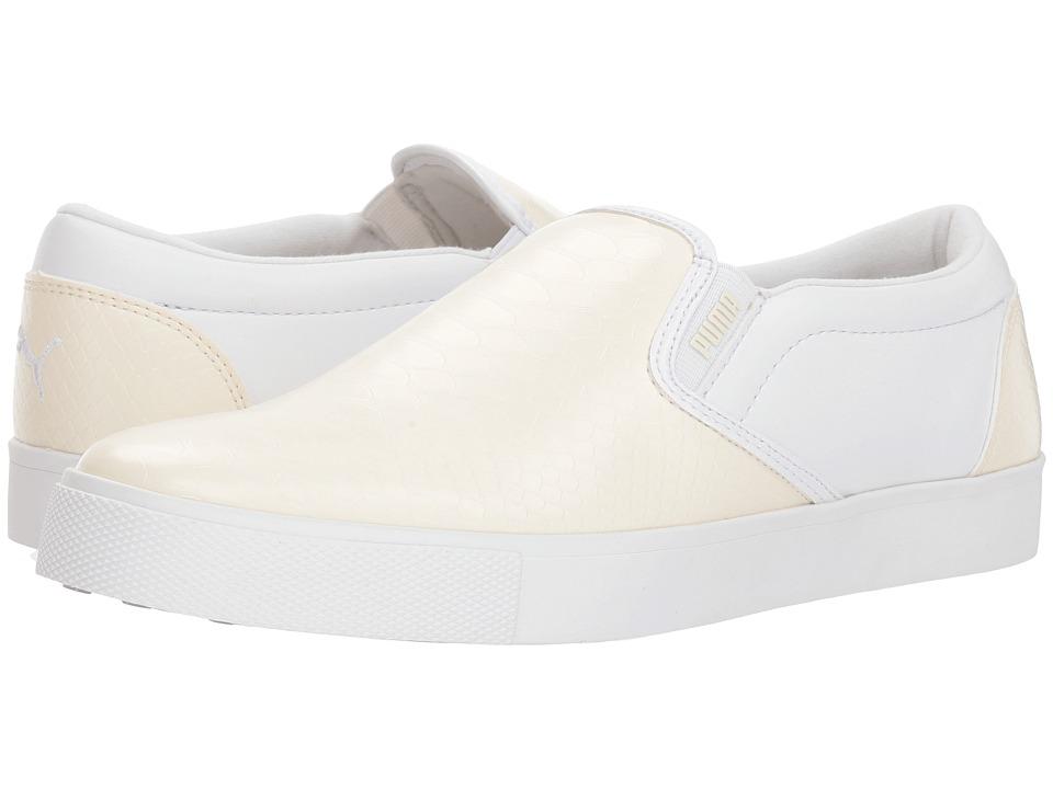 PUMA Golf Tustin Slip-On (Whisper White/Puma White) Women's Shoes