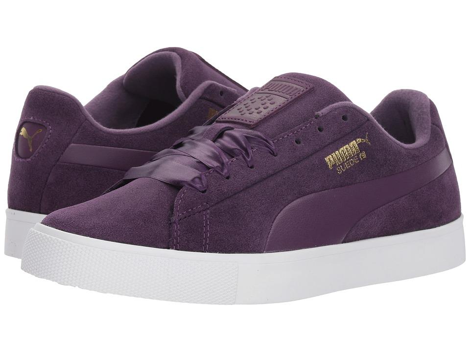 PUMA Golf Suede G (Majesty/Majesty) Women's Shoes