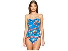 LAUREN Ralph Lauren Havana Floral Twist Bandeau Underwire Mio One-Piece Swimsuit