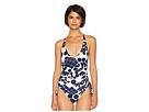 Trina Turk Bali Blossoms High Leg Maillot One-Piece Swimsuit