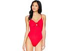 Trina Turk Getaway Solids High Leg Maillot One-Piece Swimsuit