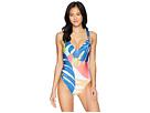 Trina Turk Banana Leaf V-Plunge One-Piece Swimsuit