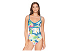 La Blanca Go with The Flo-Ral Over the Shoulder Mio One-Piece Swimsuit