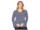 MICHAEL Michael Kors Plus Size Abstract Batik Bell Sleeve Top