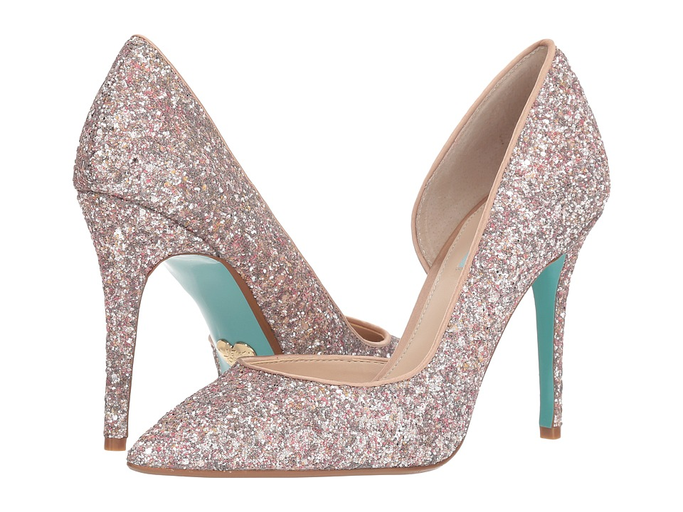 Blue by Betsey Johnson Sally (Nude Glitter) High Heels