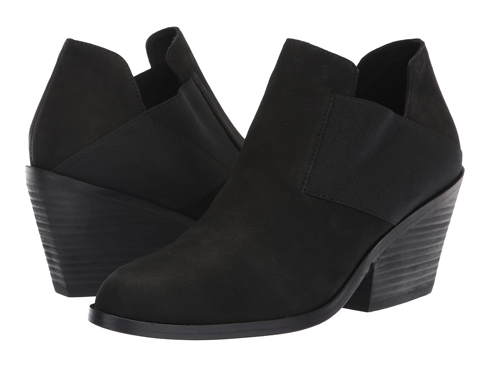 Eileen Fisher Even (Black Nubuck) Women's Pull-on Boots