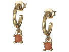 French Connection Small Stone Hoop Drop Earrings