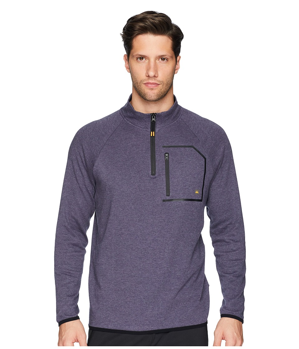 Quiksilver Waterman - Technical Quarter-Zip Sweatshirt (Dark Denim Heather) Mens Fleece