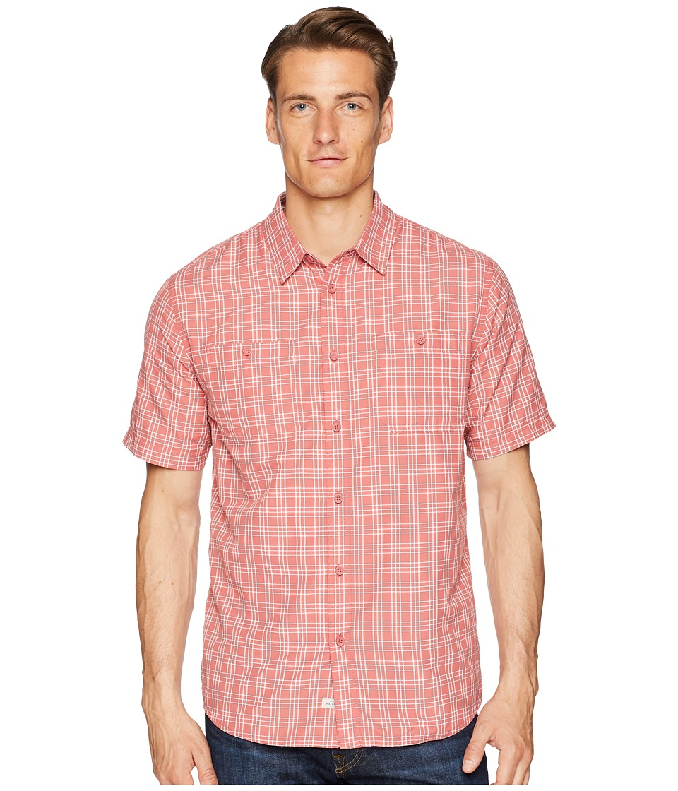 Quiksilver Waterman - Wake Plaid Technical Shirt (Mineral Red) Mens Clothing