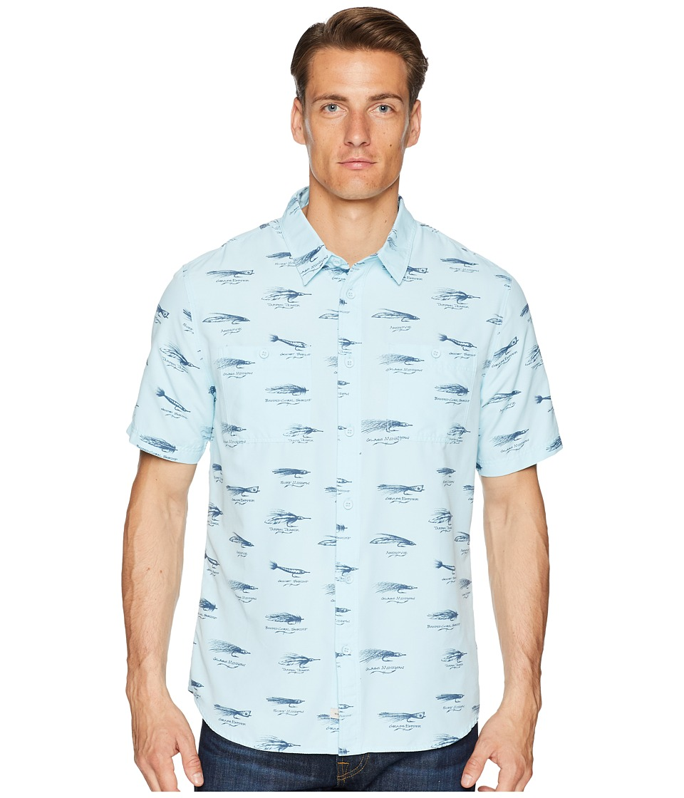 Quiksilver Waterman - Wake Lures Technical Shirt (Crystal Blue) Mens Clothing