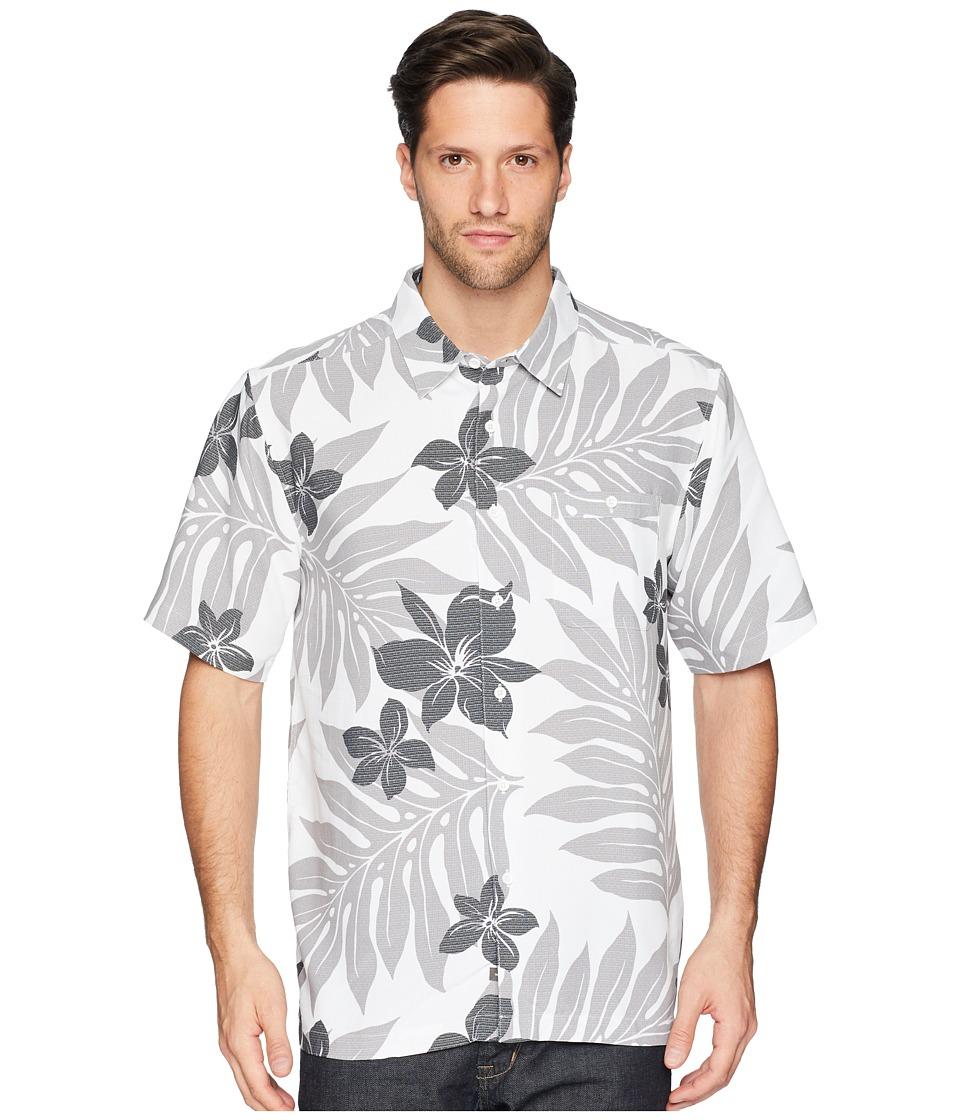 Quiksilver Waterman - Shonan Woven Shirt (White/Black) Mens Clothing