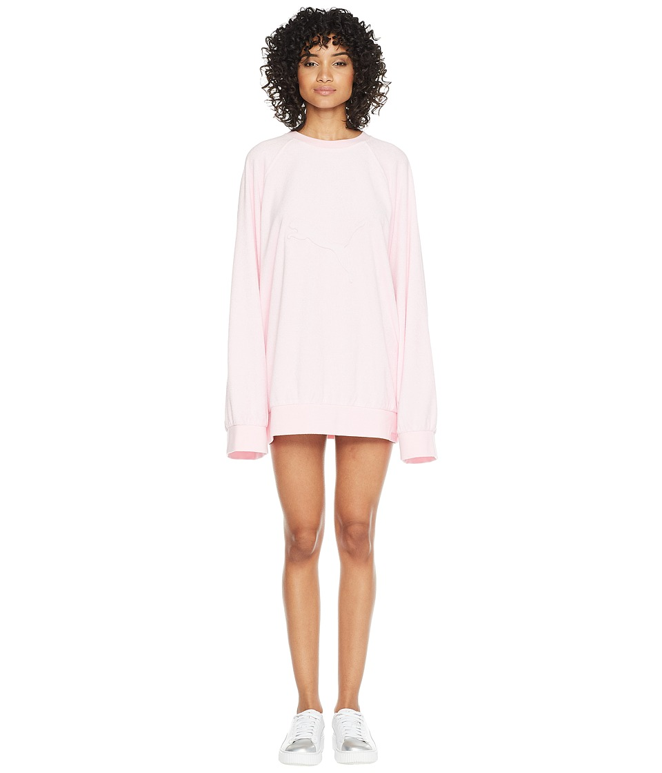 PUMA - Puma x Fenty by Rihanna Crew Neck Pullover (Pink Lady) Womens Clothing