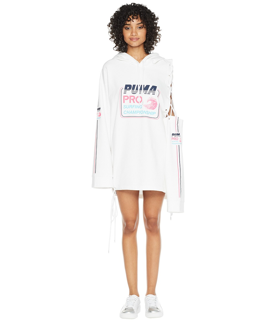 PUMA - Puma x Fenty by Rihanna Side Laced Long Sleeve Hoodie (Bright White) Womens Sweatshirt
