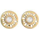 The Sak Perforated Stone Clip Earrings