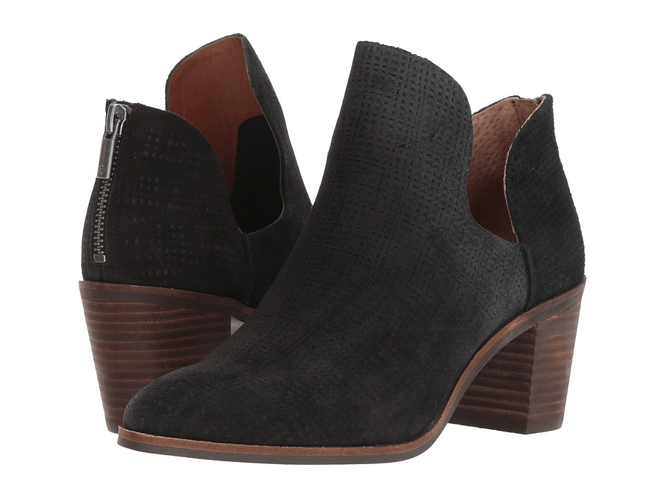 Lucky Brand Powe (Black Suede Leather) Women's Shoes