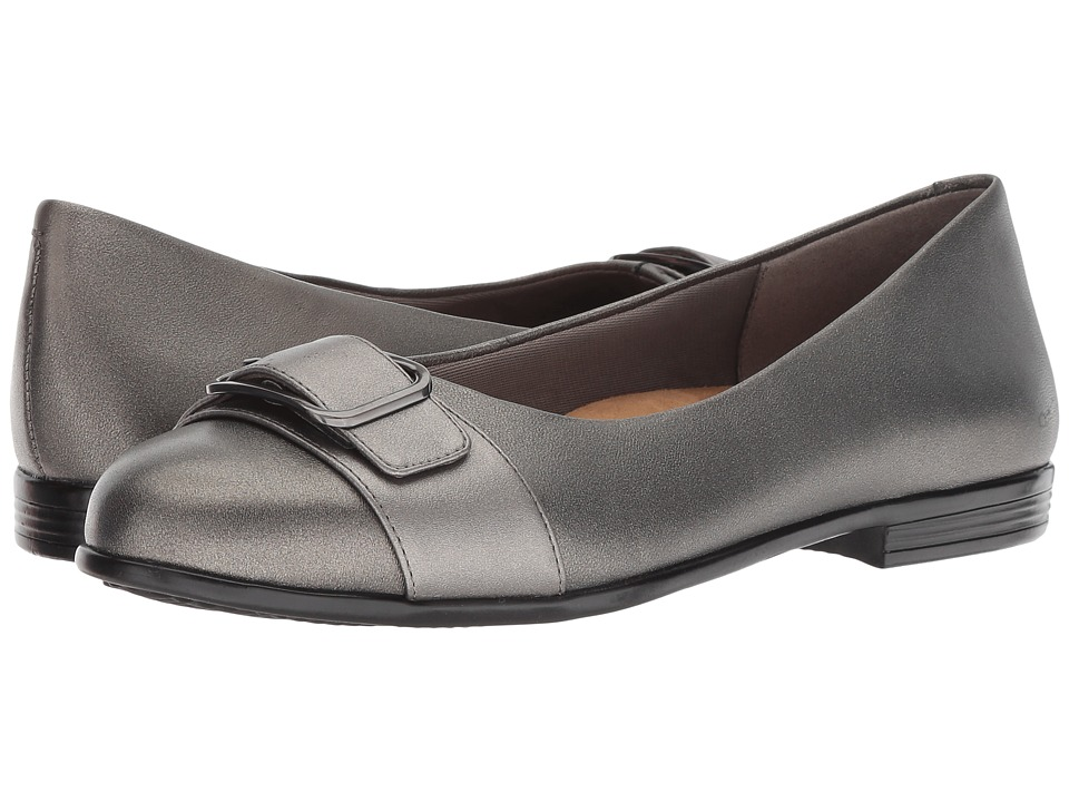 Trotters Aubrey (Dark Pewter) Women's Slip-on Dress Shoes