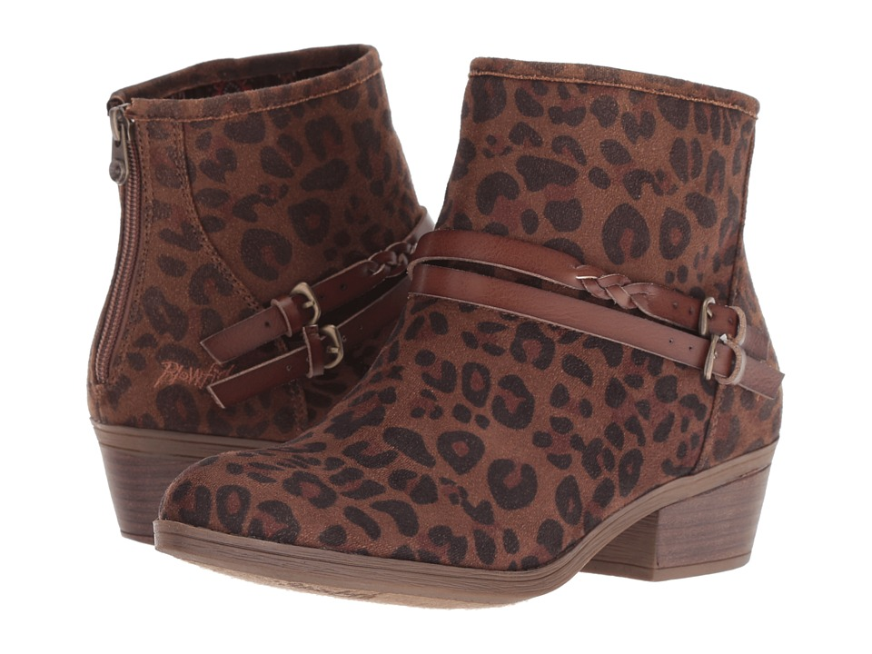 Blowfish San Fran-B (Brown Autumn Leopard Micro Delux) Women's Pull-on Boots