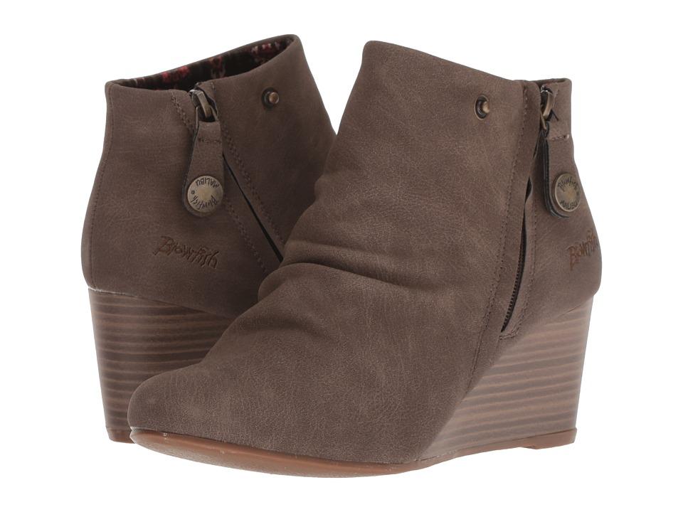 Blowfish Berkeley (Mushroom Rustic Faux Suede) Women's Pull-on Boots