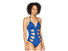 Kenneth Cole Hall of Fame Push-Up Mio with Cut Out Detail One-Piece Swimsuit