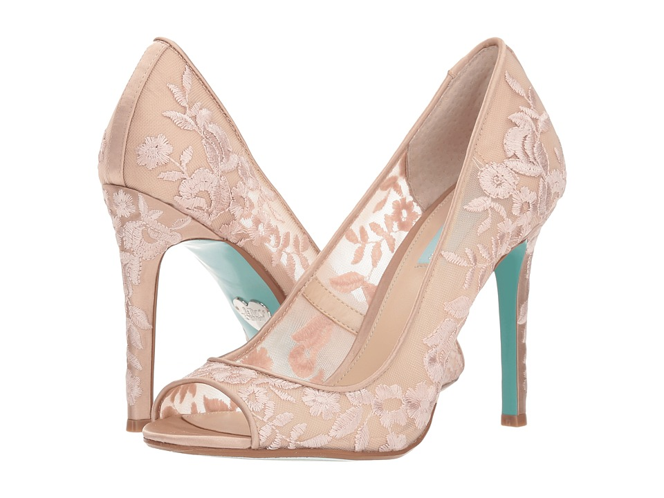 Blue by Betsey Johnson Adley (Nude) High Heels