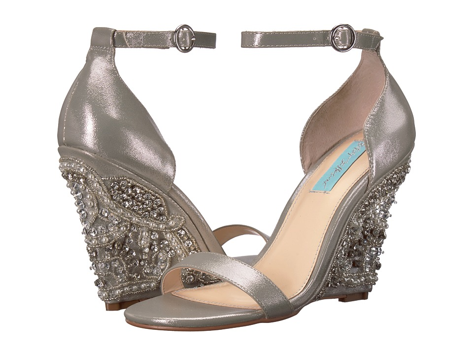 Blue by Betsey Johnson Alisa (Silver) Wedges