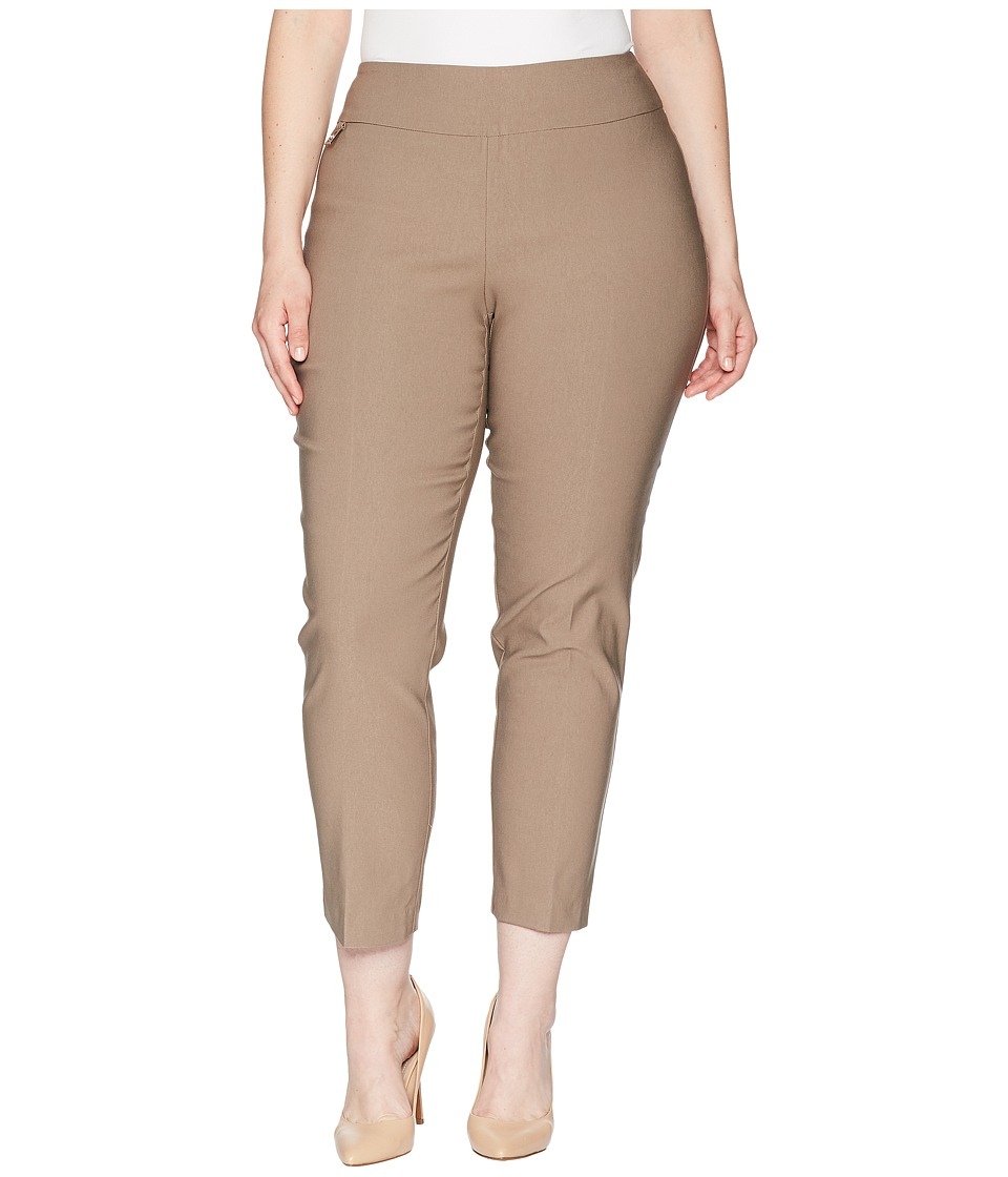 Lisette L Montreal - Plus Size Solid Magical Lycra Ankle Pants Curvy Collection (Mushroom) Womens Casual Pants